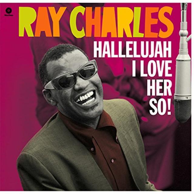 Ray Charles HALLELUJAH I LOVE HER SO Vinyl Record - Spain Release