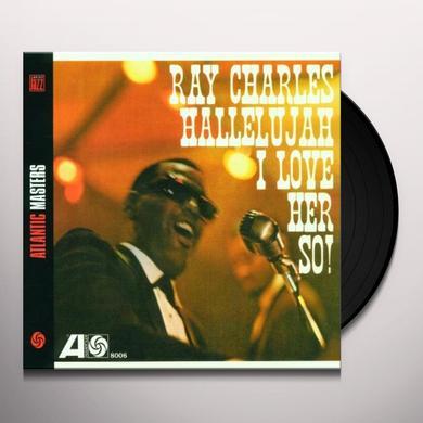 Ray Charles HALLELUJAH I LOVE HER SO Vinyl Record - Spain Import