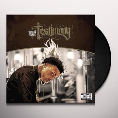 August Alsina TESTIMONY Vinyl Record