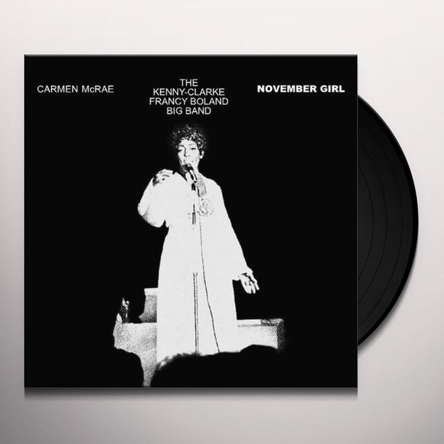 Carmen McRae NOVEMBER GIRL Vinyl Record