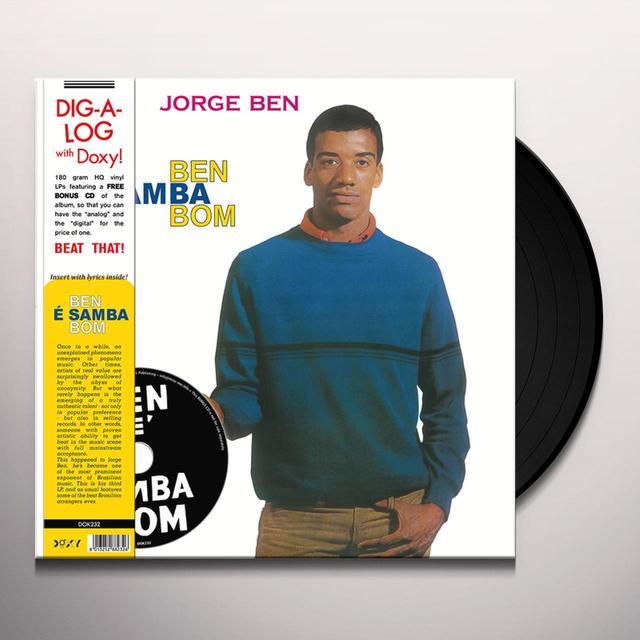 Jorge Ben BEN E SAMBA BOM Vinyl Record - w/CD