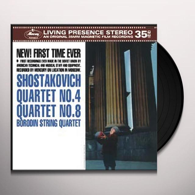 BORODIN STRING QUARTET SHOSTAKOVICH: STRING QUARTETS NOS. 4 & 8 Vinyl Record - 180 Gram Pressing