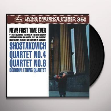 Borodin / Borodin Quartet SHOSTAKOVICH: STRING QUARTETS NOS. 4 & 8 Vinyl Record