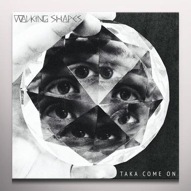 WALKING SHAPES TAKA COME ON Vinyl Record - White Vinyl, Digital Download Included