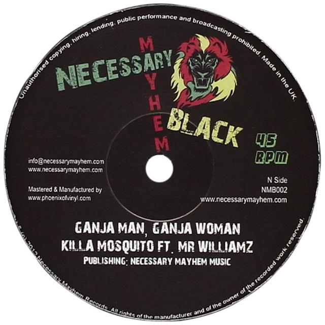 KILLA MOSQUITO / MR WILLIAMZ GANJA MAN GANJA WOMAN Vinyl Record