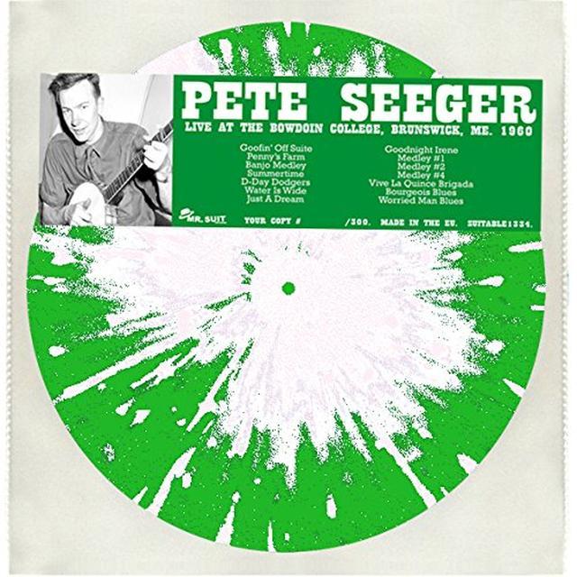 Pete Seeger LIVE AT THE BOWDOIN COLLEGE BRUNSWICK ME. 1960 Vinyl Record