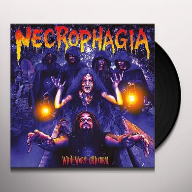 Necrophagia WHITE WORM CATHEDRAL Vinyl Record
