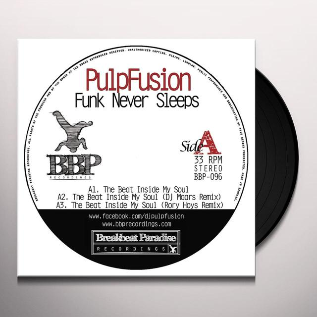 Pulpfusion / Morris Chestnut FUNK NEVER SLEEPS Vinyl Record - UK Import