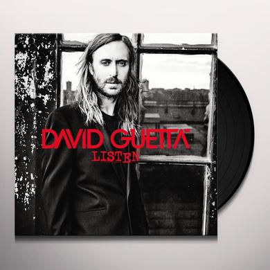 David Guetta LISTEN Vinyl Record - 180 Gram Pressing, Digital Download Included