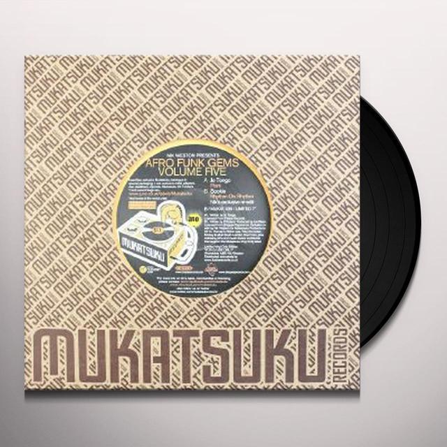NIK WESTON PRESENTS AFRO FUNK GEMS 5 / VARIOUS Vinyl Record