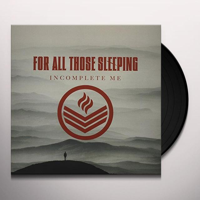For All Those Sleeping INCOMPLETE ME Vinyl Record
