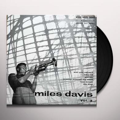Miles Davis VOL 3 Vinyl Record