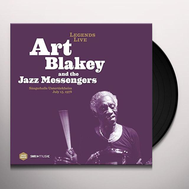 Art Blakey LEGENDS LIVE: SANGERHALLE UNTERTURKHEIM 1978 Vinyl Record - Spain Import