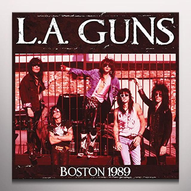 L.A. Guns BOSTON 1989 Vinyl Record - Blue Vinyl, Colored Vinyl, Limited Edition, Red Vinyl