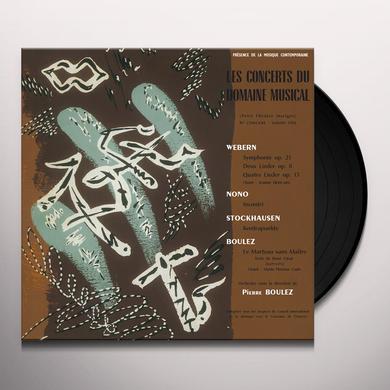 WEBERN / NONO / STOCKHAUSEN / BOULEZ LE CONCERTS DU DOMAINE MUSICAL 1956 Vinyl Record