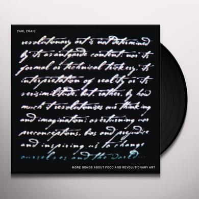 Carl Craig MORE SONGS ABOUT FOOD & REVOLUTIONARY ART Vinyl Record