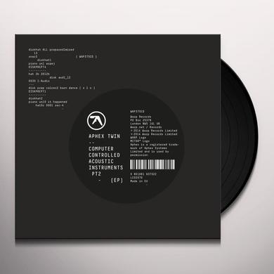 Aphex Twin COMPUTER CONTROLLED ACOUSTIC INSTRUMENTS PT 2 (EP) Vinyl Record
