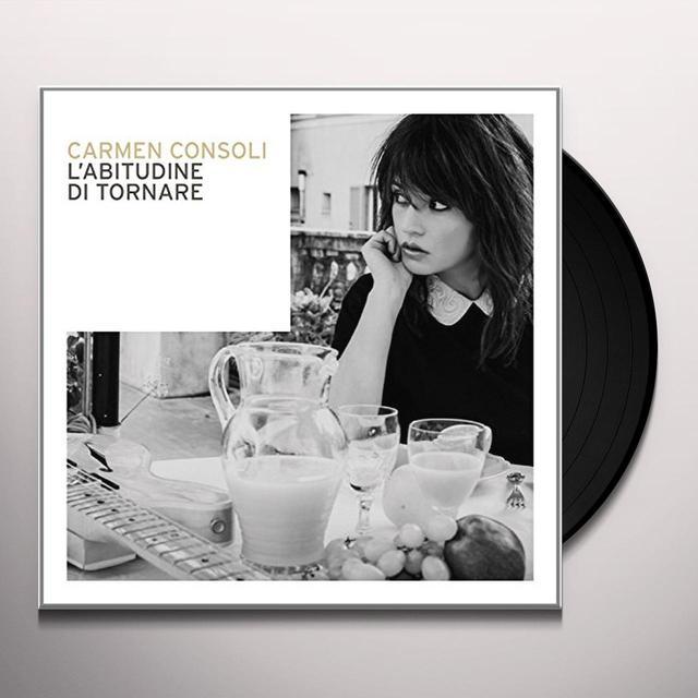 Carmen Consoli L'ABITUDINE DI TORNARE Vinyl Record - Italy Import