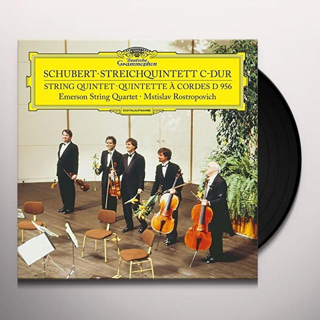 SCHUBERT / EMERSON STRING QUARTET STRING QUINTET IN C D956 Vinyl Record - Limited Edition