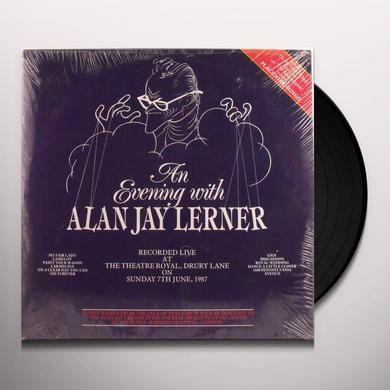 Alan Jay Lerner AN EVENING WITH...(MY FAIR LADY, CAMLEOT, GIGI) Vinyl Record