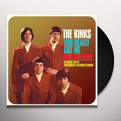 Kinks YOU REALLY GOT ME (LIVE) / MILK COW BLUES (LIVE) Vinyl Record