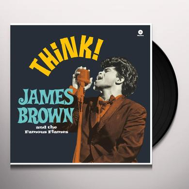 James Brown THINK Vinyl Record - Spain Release