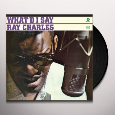 Ray Charles WHAT'D I SAY Vinyl Record - Spain Import