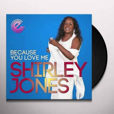Shirley Jones BECAUSE YOU LOVE ME Vinyl Record - UK Import