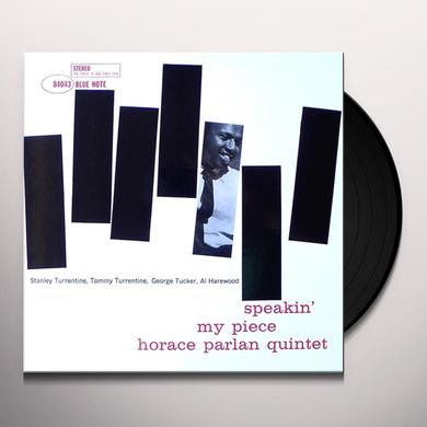 Horace Parlan SPEAKIN MY PIECE Vinyl Record - Gatefold Sleeve, 180 Gram Pressing