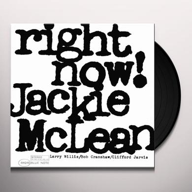 Jackie Mclean RIGHT NOW Vinyl Record