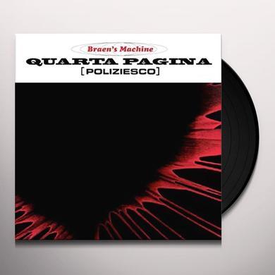 QUARTA PAGINA / O.S.T. (BONUS CD) (ITA) QUARTA PAGINA / O.S.T. (BONUS CD) Vinyl Record - Italy Release