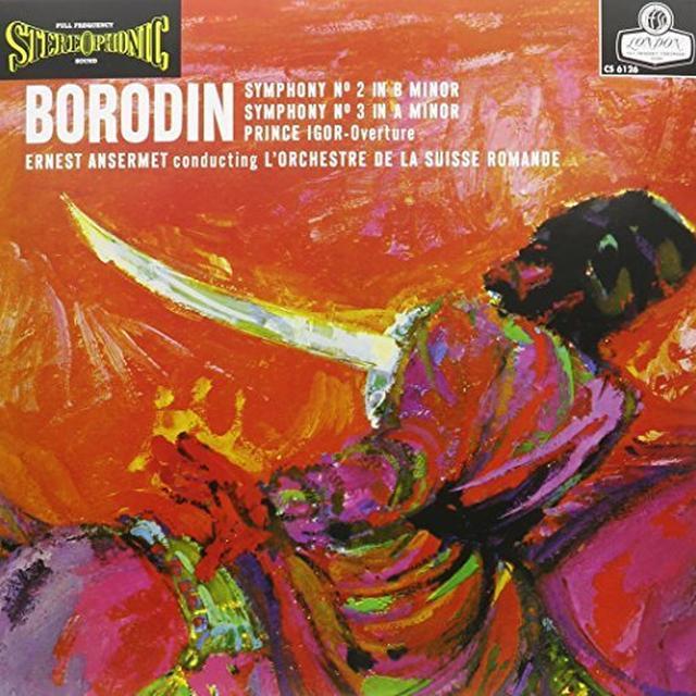 Ernest Ansermet BORODIN SYMPHONIES NOS. 2 & 3 Vinyl Record - Limited Edition, 180 Gram Pressing