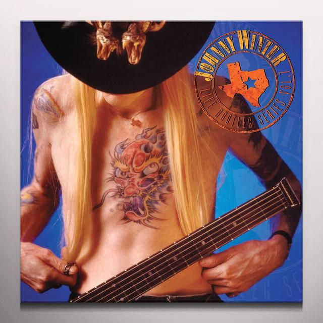 Johnny Winter LIVE BOOTLEG SERIES 7 Vinyl Record - Clear Vinyl, 180 Gram Pressing, Red Vinyl