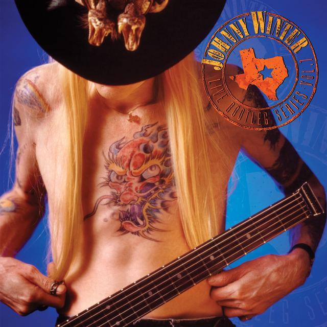 Johnny Winter LIVE BOOTLEG SERIES 7 Vinyl Record - Clear Vinyl, 180 Gram Pressing, Red Vinyl