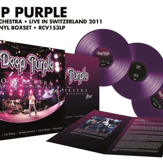 Deep Purple LIVE WITH ORCHESTRA-MONTREUX 2011 Vinyl Record - Colored Vinyl, UK Release