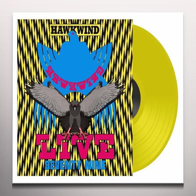 Hawkwind LIVE SEVENTY NINE Vinyl Record - UK Import, Colored Vinyl