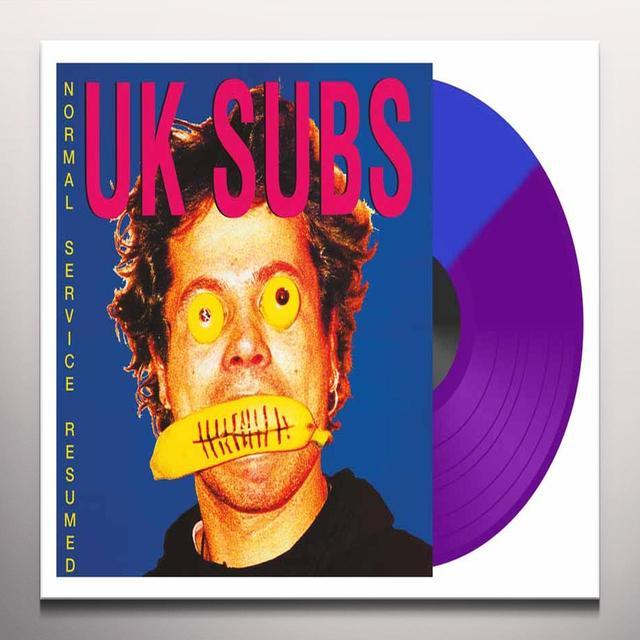 U.K. Subs NORMAL SEVRICE RESUMED Vinyl Record - UK Import, Colored Vinyl