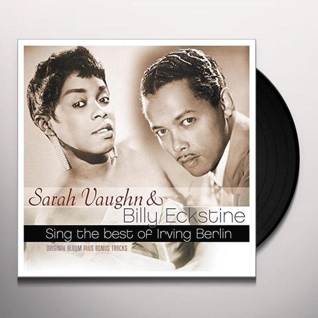 Sarah Vaughan Billy Eckstine SING THE BEST OF IRVING BERLIN Vinyl Record