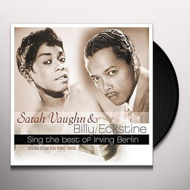 Sarah Vaughan Billy Eckstine SING THE BEST OF IRVING BERLIN Vinyl Record - Holland Import