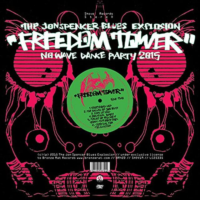 Jon Spencer FREEDOM TOWER-NO WAVE DANCE PARTY 2015 Vinyl Record - UK Import