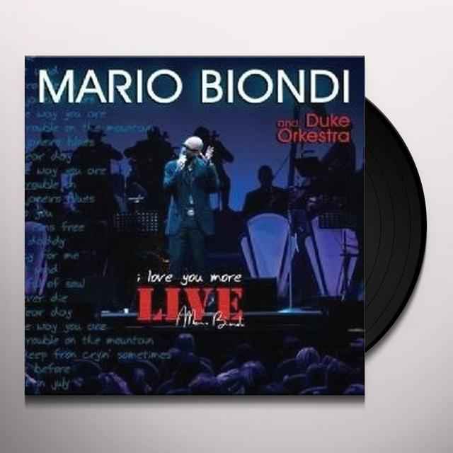 Mario Biondi LIVE I LOVE YOU MORE (W/DVD) Vinyl Record - Italy Import
