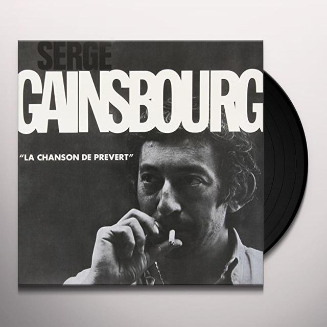 Serge Gainsbourg LA CHANSON DE PREVERT Vinyl Record - Limited Edition, 180 Gram Pressing