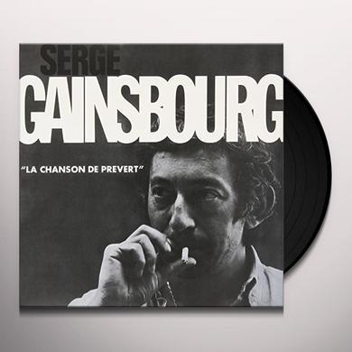 Serge Gainsbourg LA CHANSON DE PREVERT Vinyl Record
