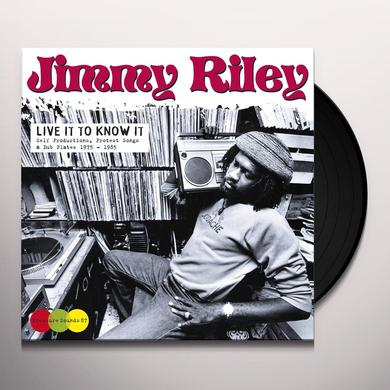 Jimmy Riley LIVE IT TO KNOW IT Vinyl Record