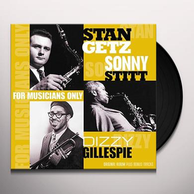 Dizzy Gillespie & Stan Getz FOR MUSICIANS ONLY Vinyl Record