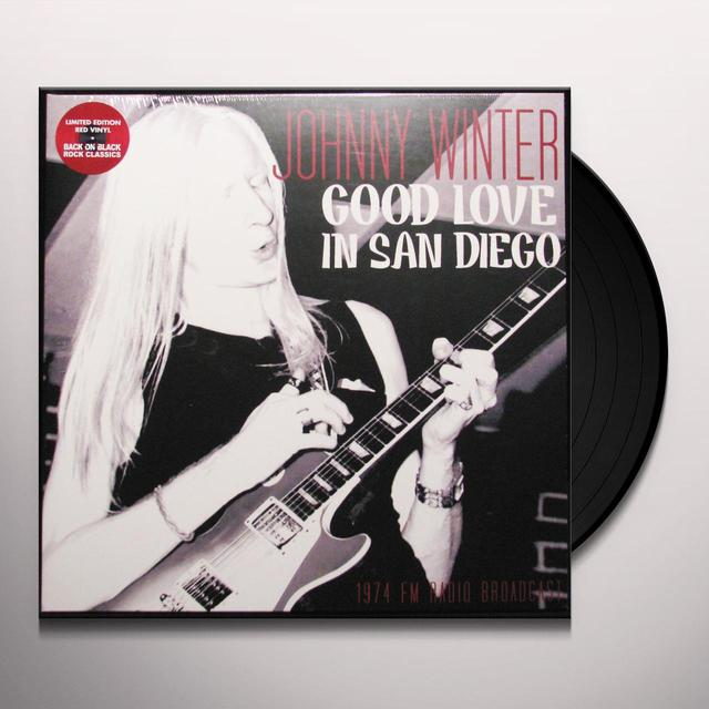 Johnny Winter GOOD LOVE IN SAN DIEGO Vinyl Record - UK Import
