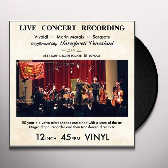 INTERPRETI VENEZIANI CHAMBER ORCHESTRA VIVALDI MARAIS & SARASATE: LIVE CONCERT RECORDINGS Vinyl Record