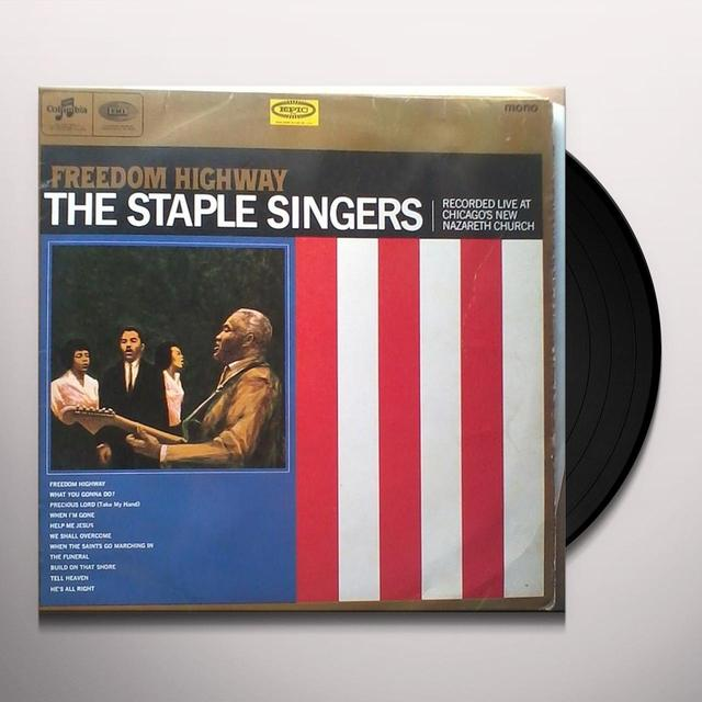The Staple Singers FREEDOM HIGHWAY Vinyl Record