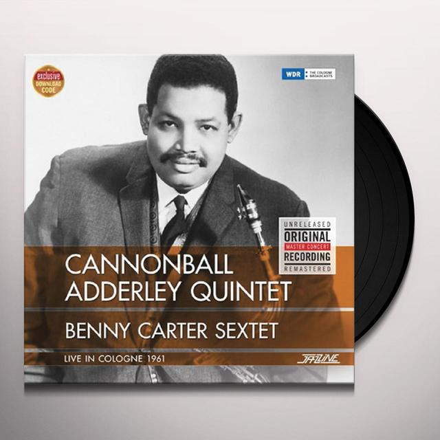 Cannonball Adderley LIVE IN COLOGNE 1961 + BENNY CARTER SEXTET Vinyl Record - Spain Import