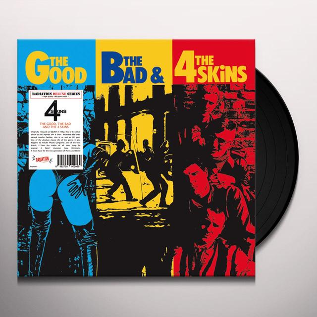 GOOD THE BAD & THE 4 SKINS Vinyl Record - Italy Import
